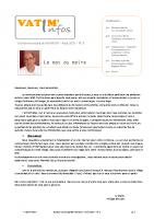 Bulletin n°1 – août 2020